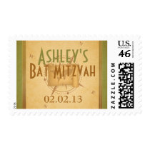 Vintage World Travel Bat Mitzvah Postage