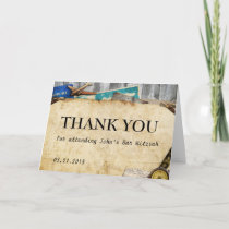 Vintage World Travel Thank You Greeting Card