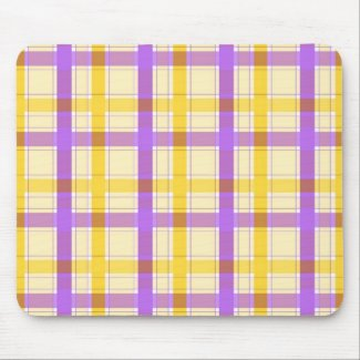 Violet yellow plaid - Mousepad mousepad