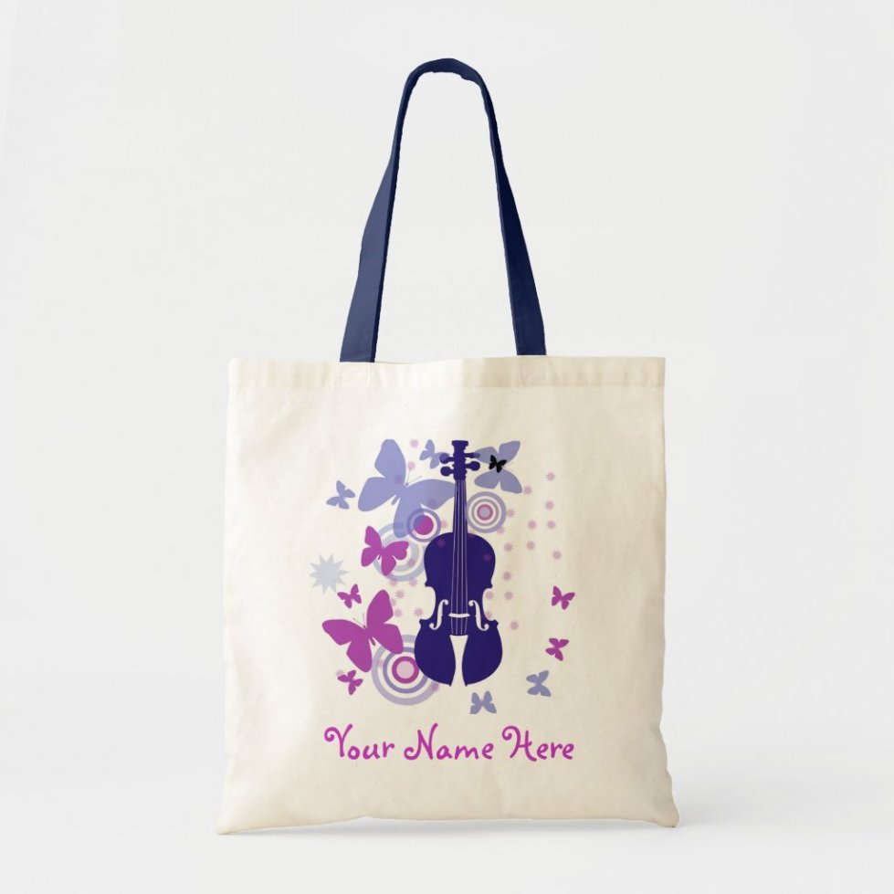 Violin Flutter Tote with Your Own Name
