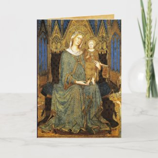 VIRGIN WITH CHILD ,Blue Sapphire card