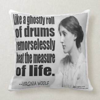 Virginia Woolf Ghostly Roll Large Throw Pillow