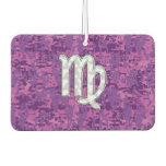 Virgo Sign Pink Fuchsia Digital Camouflage Style Air Freshener