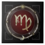 Virgo Zodiac Sign Ceramic Tile