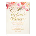 Virtual Shower Floral Blush Pink Watercolor Rose Invitation