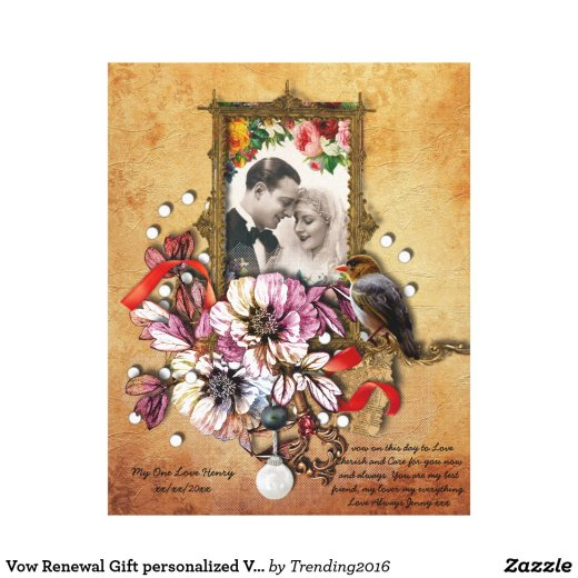 Vow Renewal Gift personalized Vintage Gothic