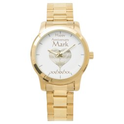 Vow Renwal Anniversary HUSBAND Watch Personalized