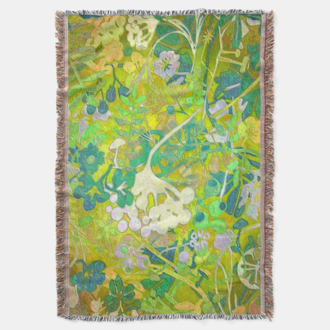 Wacky Retro Floral 2 Throw