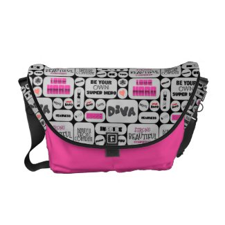 Wall Of Inspiration Pink/blk Rickshaw Bag