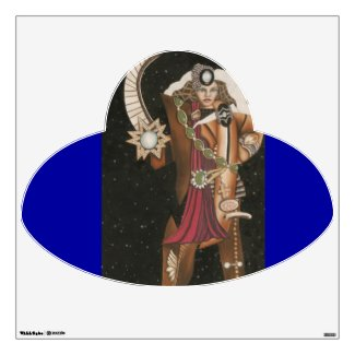Warrior Star Princess Strange UFO Wall Decal by CricketDiane 2012