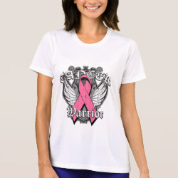 Warrior Vintage Wings - Breast Cancer Tees
