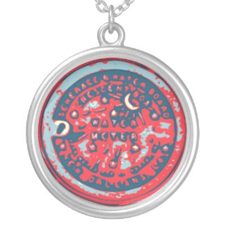 Water Meter Lid necklace