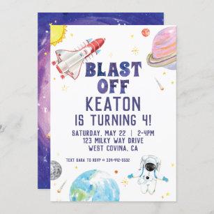 space theme invitations zazzle