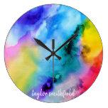 Watercolor Large Clock