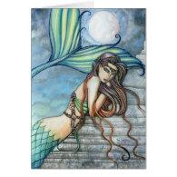 Watercolor Mermaid Card by Molly Harrison