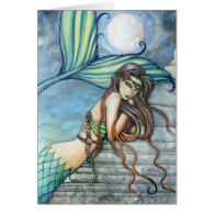 Watercolor Mermaid Card by Molly Harrison