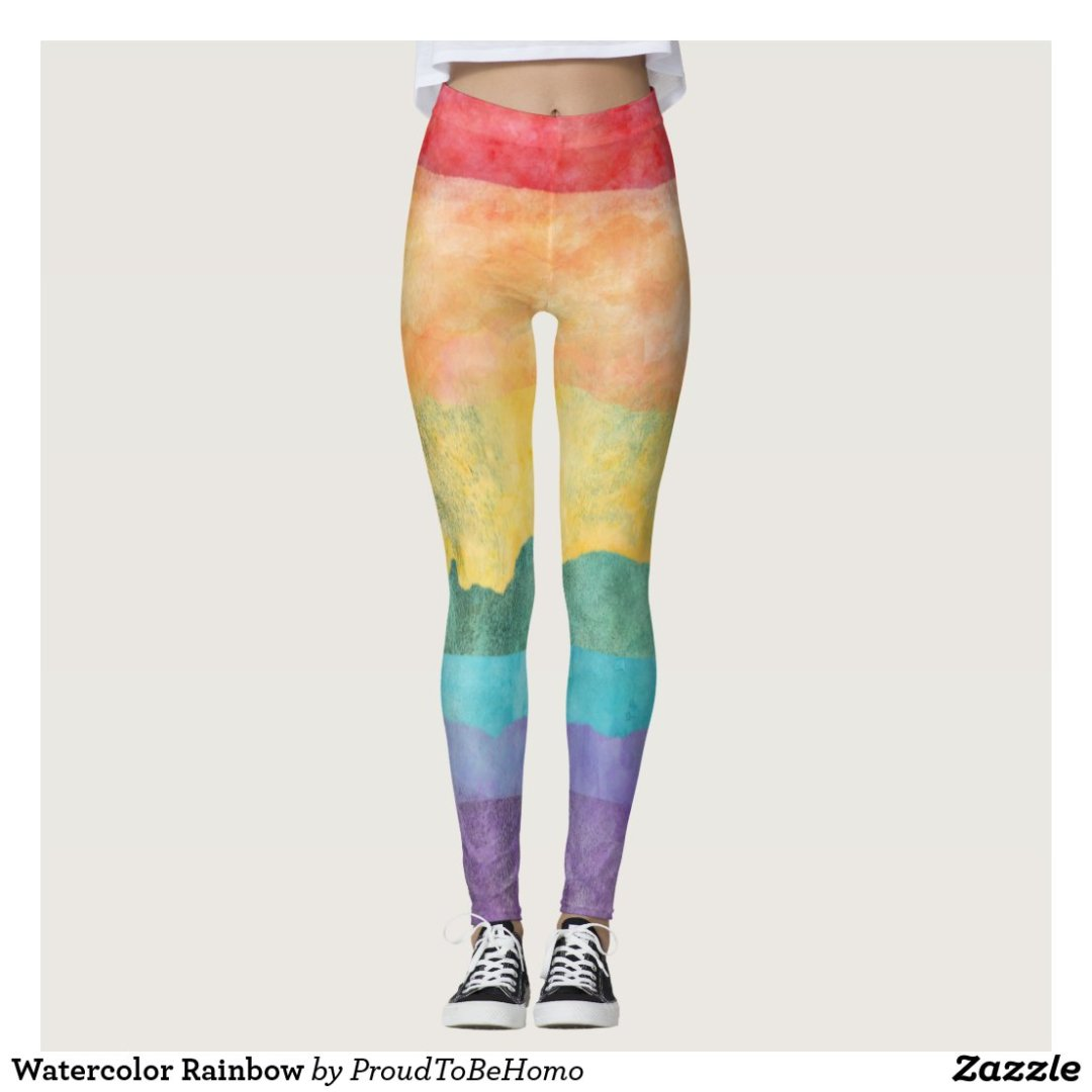 Watercolor Rainbow Leggings