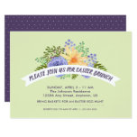 ❤️ Watercolor Spring Flowers Stylish Easter Brunch Invitation