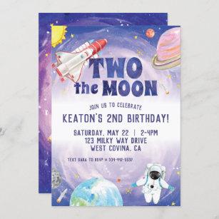 space theme birthday invitations zazzle