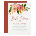 Watercolor wildflowers Baby Shower Invitation