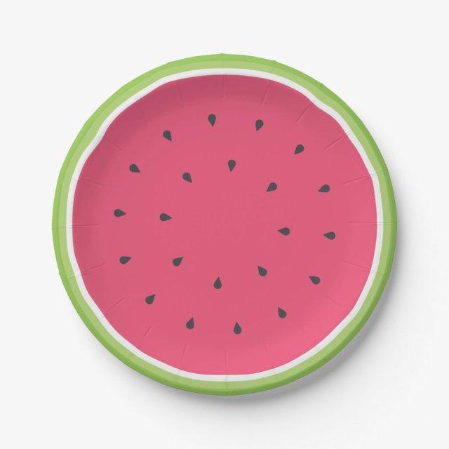 Watermelon Paper Plates