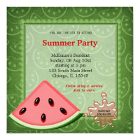 Watermelon Summer Party Card