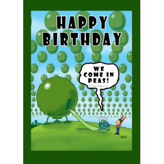 We Come in Peas Card