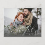 WE ELOPED ANNOUNCEMENT POSTCARD