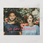 """We Got Married"" Wedding Announcement Postcard"