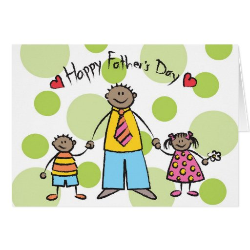 We Love You Dad Cartoon Family Happy Father's Day Greeting ...