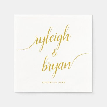 Wedding Bride & Groom Handwritten Calligraphy Napkins