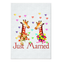 Wedding Giraffes Card