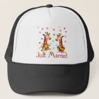 Wedding Giraffes Trucker Hat