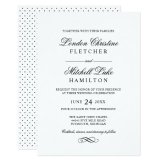 Wedding Invitations Black Clic Elegance