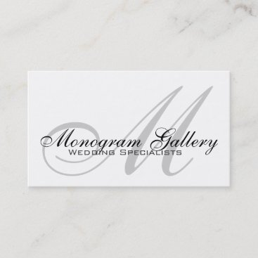 Wedding Monogram Customizable Business Card