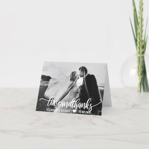 Wedding Photo Thank You Script Calligraphy