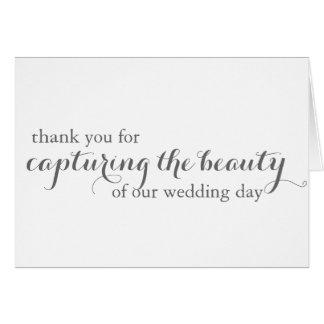 Wedding Photographer Grapher Thank You Card