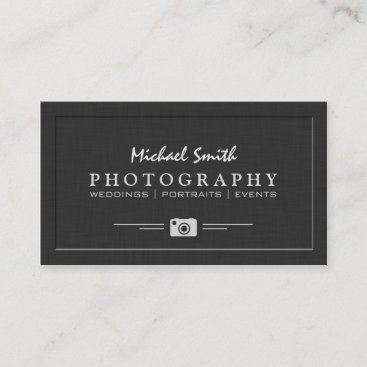Wedding Portrait Photography Elegant Embossed Look Business Card