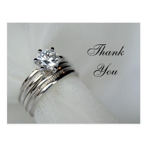 Wedding Rings Thank You Postcard