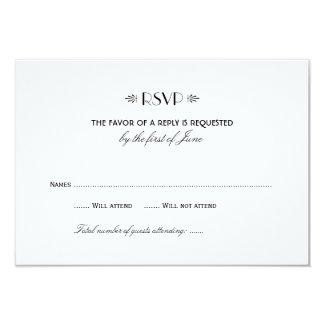 Wedding RSVP Card 1 | Art Deco Elegant Style