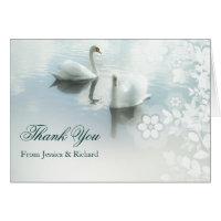 wedding thank you card with birds