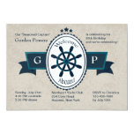 Welcome Aboard Nautical Invitation
