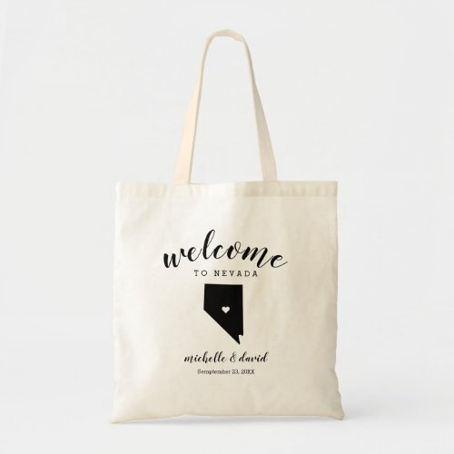 Welcome to Nevada | State Silhouette Wedding Tote Bag