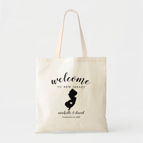 Welcome to New Jersey | State Silhouette Wedding Tote Bag
