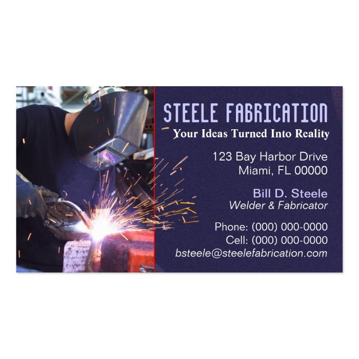 Welder Business Card Zazzle