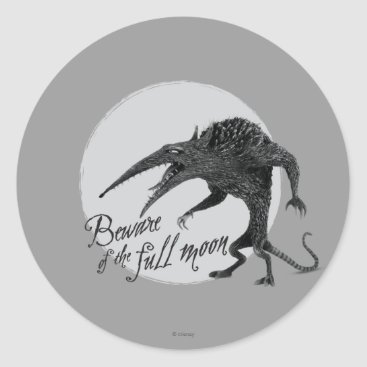 Wererat: Beware of the Full Moon Classic Round Sticker
