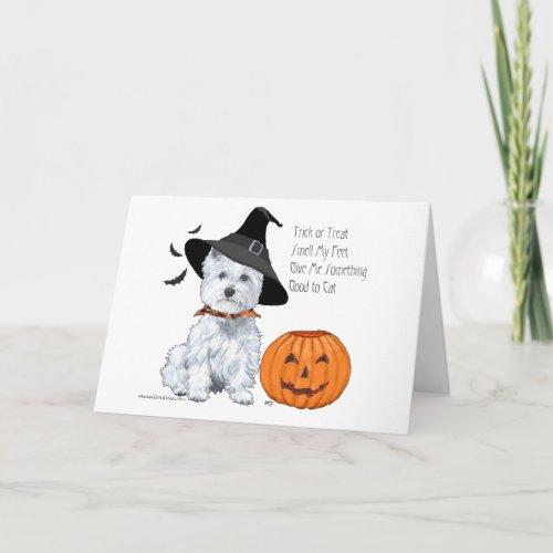 West Highland White Terrier Halloween Card