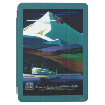 Western Pacific California Zephyr Vintage Poster iPad Air Cover