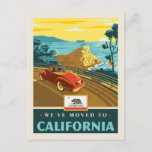 We've Moved To California Invitation Postcard