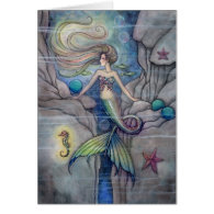 What Lies Beneath Lovely Mermaid Card
